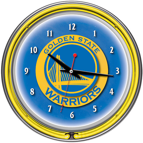 "Golden State Warriors NBA 14"" Neon Wall Clock"