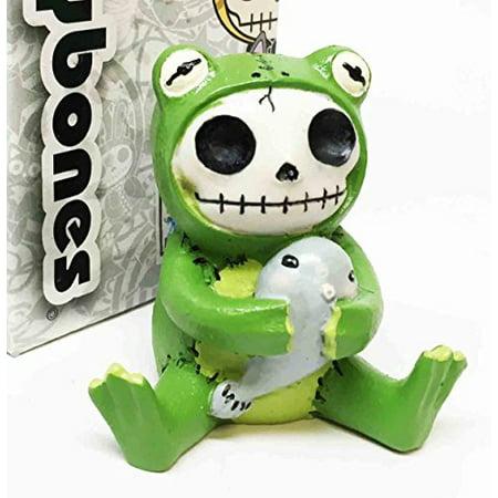 Furrybones Froggy Tadpole Green Frog Cute Skeleton Monster Ornament Figurine