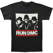 Run DMC Men's  Band Stencil T-shirt Black