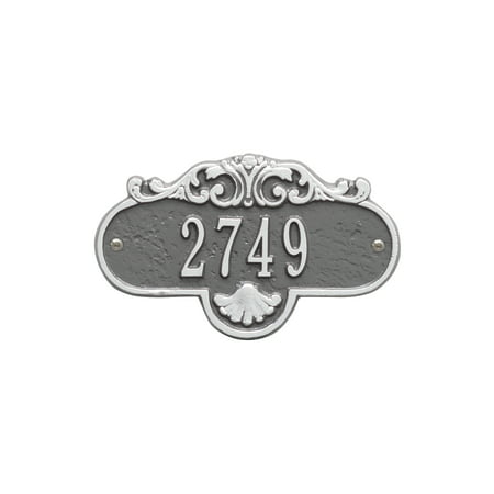 Mailbox Address Plaque (Personalized Whitehall Products Rochelle Petite Address Plaque in Pewter Silver)