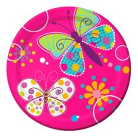 Creative Converting 415691 Butterfly Sparkle - 7 in. Lunch Plates, Foil - Case of 96