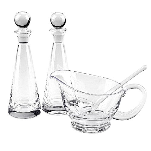Badash Mouth Blown Gravy or Sauce Server with Ladle, 4 by 8-Inch