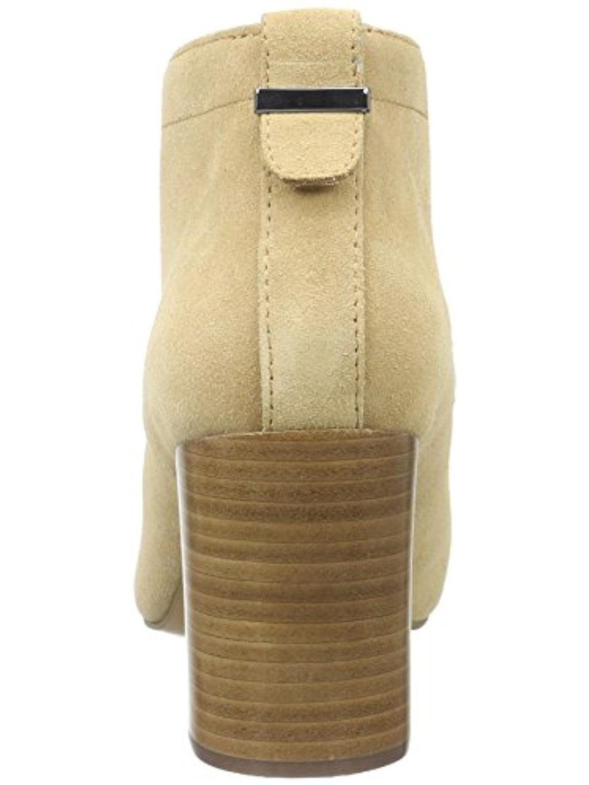 French Connection Womens Dinah Suede Stacked Heel Ankle Boots