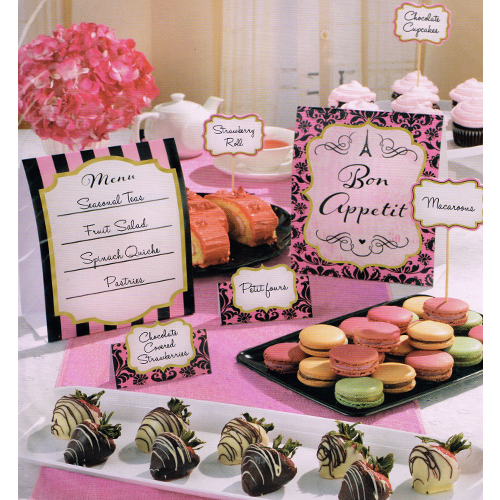Bridal Shower 'A Day in Paris' Buffet Decorating Kit (12pc)