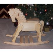 THE PUZZLE-MAN TOYS W-2210 Wooden Rocking Horse - New Classic Design - Hand Rubbed with Natural TEAK Oil