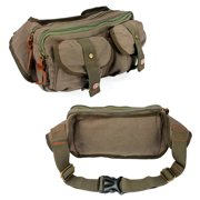 Men's Military Canvas Waist Leg Fanny Vintage Travel Waist Hip Pack Messenger Hiking Bag Wallet