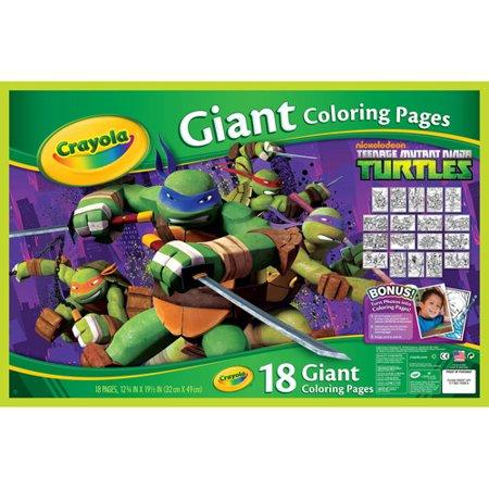 Crayola Teenage Mutant Ninja Turtles Giant Coloring Pages ...