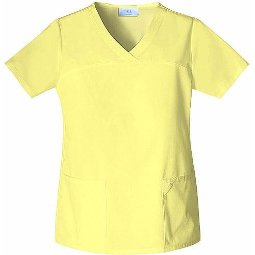 Lemon V Neck Scrub Top