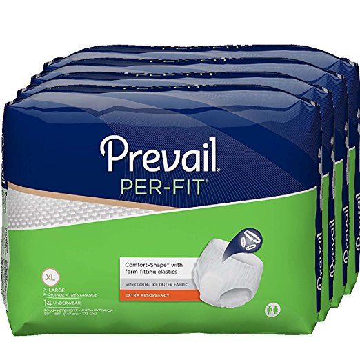 Prevail Per-Fit Extra Absorbency Incontinence Underwear, XL, 4 Bags of 14 (56 count)