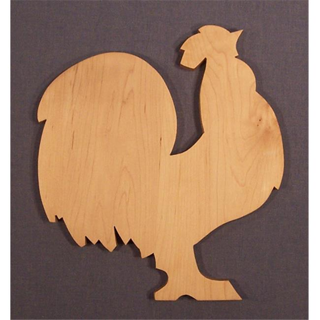 THE PUZZLE-MAN TOYS W-2702 Wooden Household Items - Cutting Board - Rooster - Hard Maple - Surface Grain const.