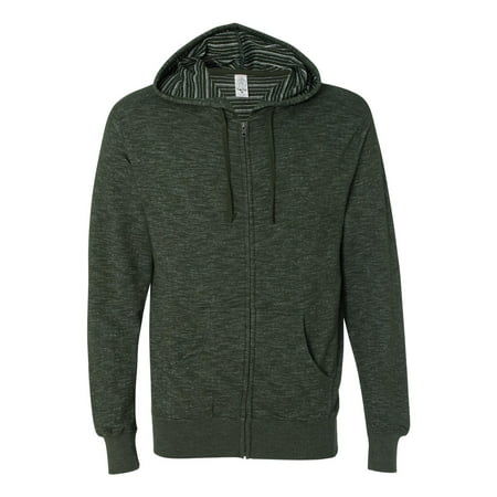 Independent Trading Co. - Baja Stripe French Terry Full-Zip Sweatshirt - PRM22BZ](Portland Trading Co)