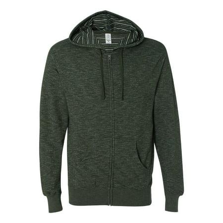Independent Trading Co. - Baja Stripe French Terry Full-Zip Sweatshirt - PRM22BZ](Austin Trading Co)