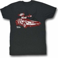 2Bhip Back to The Future Movie Doorrrs Adult T-Shirt Tee Gray