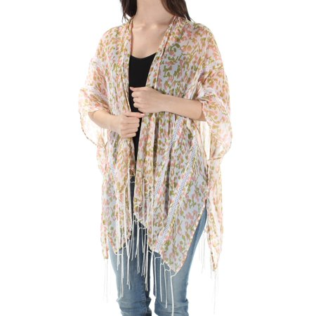 INC Womens Pink Fringed Short Sleeve Open Top  Size: - Fringe Open Cup