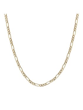 A&M Solid 14K Yellow Gold 2mm Figaro Chain Necklace