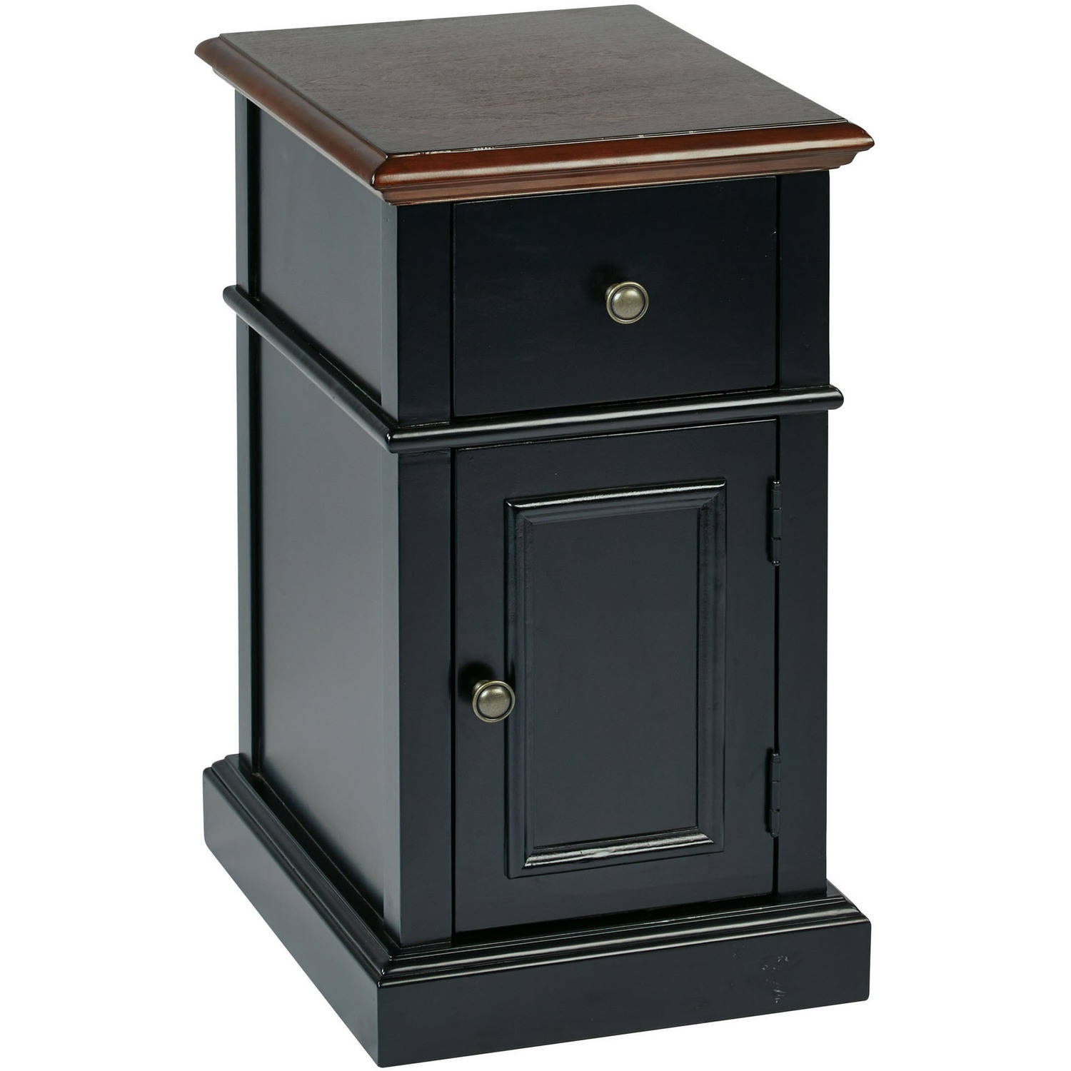 OSP Designs Oxford Chair Side Table, Black 2-Tone