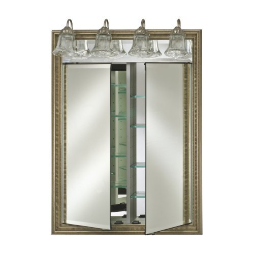 Afina Signature Traditional Lighted Double Door 24W x 34H in. Recessed Medicine Cabinet