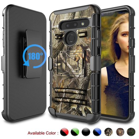 LG G8 Case, LG G8 ThinQ Holster Belt, LG G8+ ThinQ Clip, Njjex [Heavy Duty] Armor Shock Proof [Belt Clip] Holster [Kickstand] Combo Rugged Case For LG G8 Alpha / LG G8