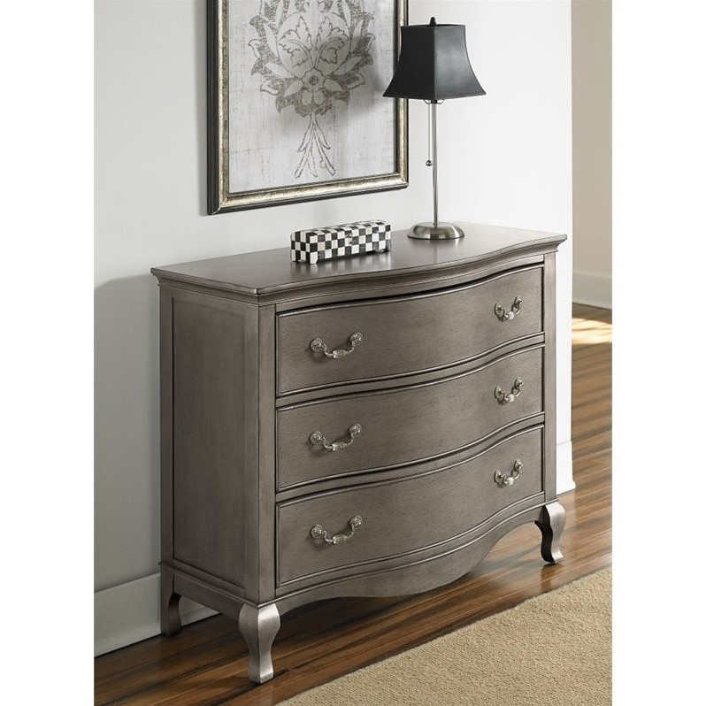 Rosebery Kids 3 Drawer Single Dresser in Antique Silver