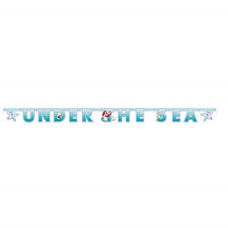 unique industries the little mermaid 6' jointed banner