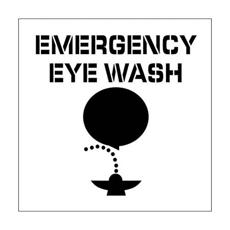 National Marker Corp. PMS227 Emergency Eye Wash Plant Marking Stencil - Wishing Plant