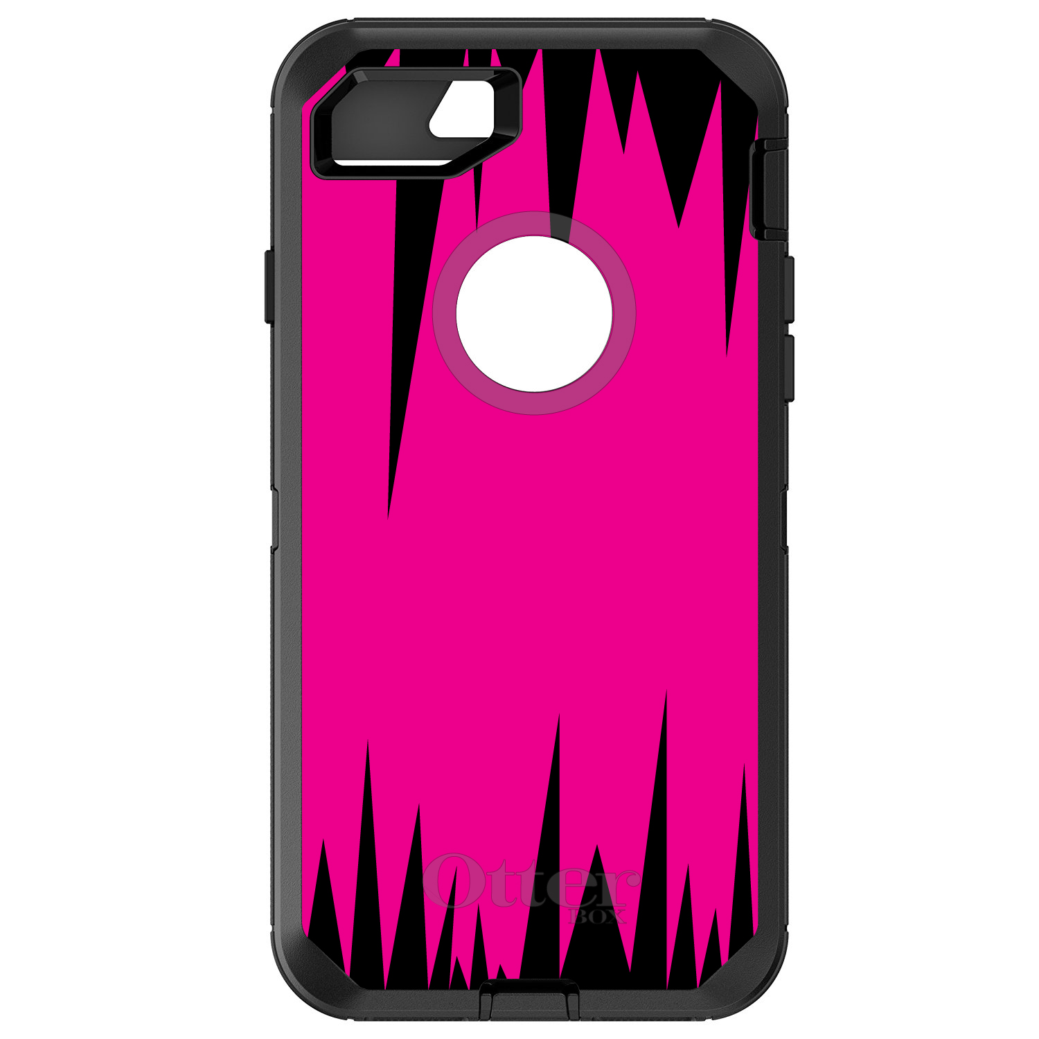DistinctInk™ Custom Black OtterBox Defender Series Case f...
