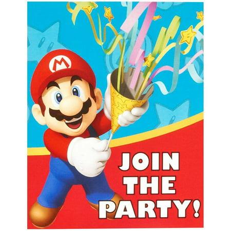 Super Mario Party Invitations 8pk Walmart Com