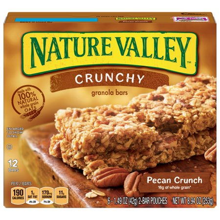 Nature Valley Granola Bars Crunchy Pecan Crunch 6 ct, 8.94 oz Box ()