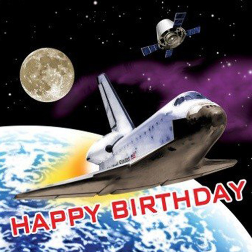 Space Odyssey 'Happy Birthday' Lunch Napkins (16ct)