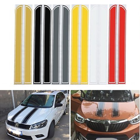 Patriots Car Sticker (Girl12Queen Auto Car Racing Rally Dual Stripes Hood Side Roof Tail Stickers Decals)