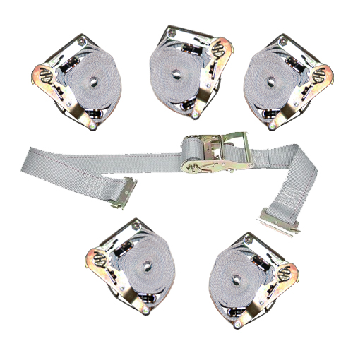 """6 Heavy Duty Ratchet Straps 2"""" x 16' with E- Track Fittings"""