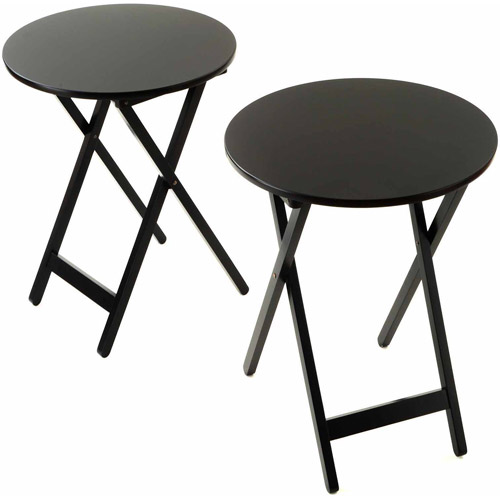 Bay Shore Collection Round Folding Bistro Tray Table 19