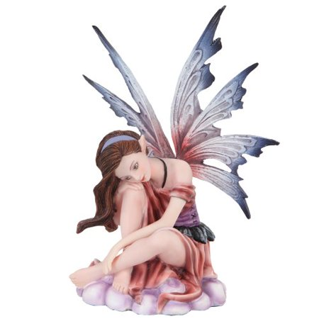 Fairyland Rose Colored Winged Fairy Mystical Statue Figurine