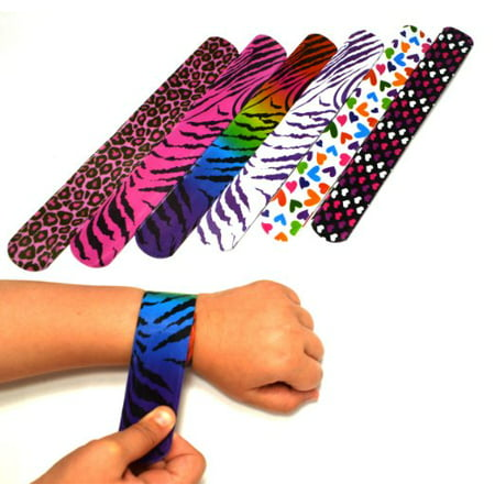 Hearts/animal Print Slap Bracelets - Pack of 50- Mega Pack! (Slap Bracelets 90s)