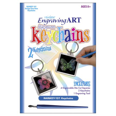 Royal & Langnickel Rainbow Foil Engraving Art Keychains, 1 Each