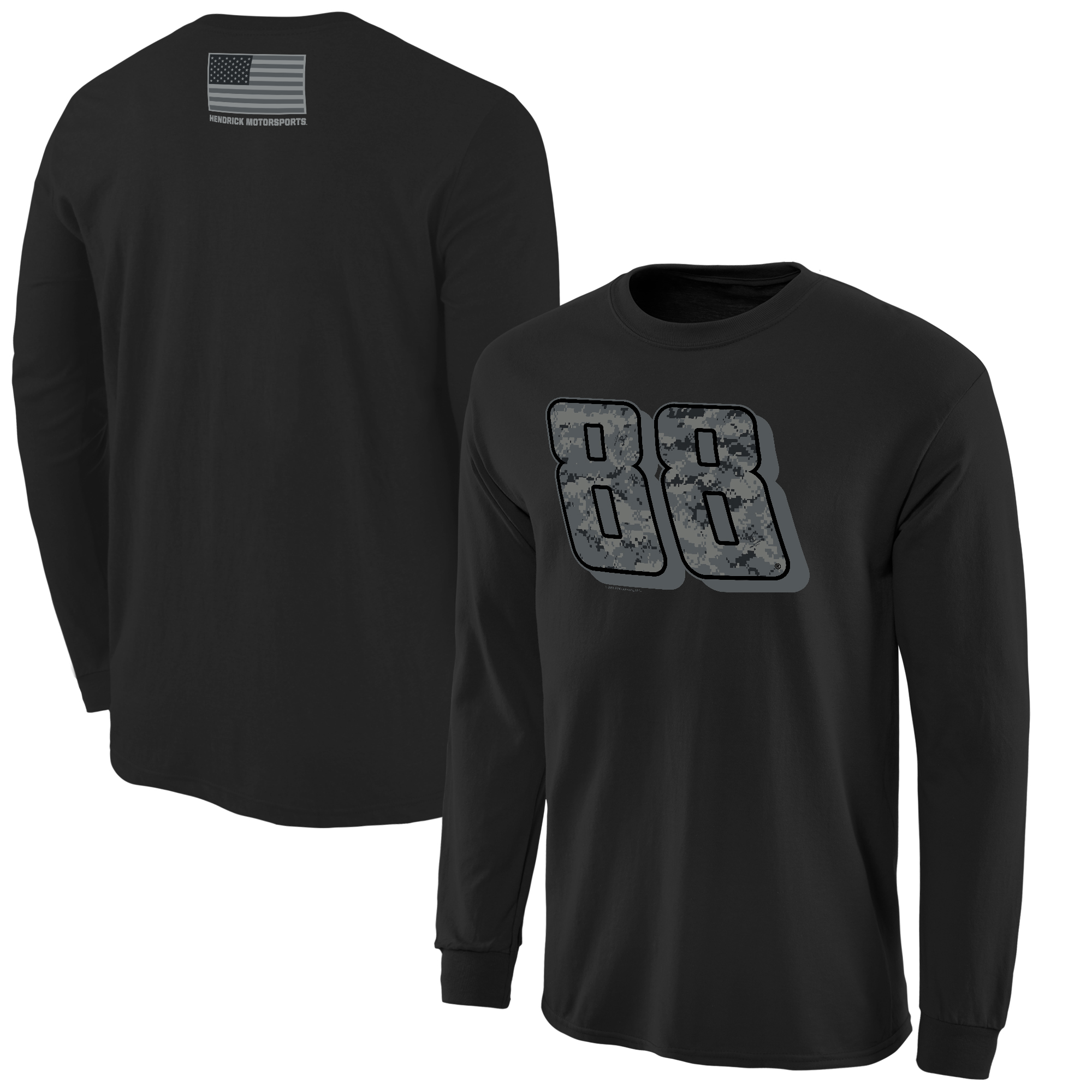 Dale Earnhardt Jr. Digi Camo Battallion Long Sleeve T-Shirt - Black