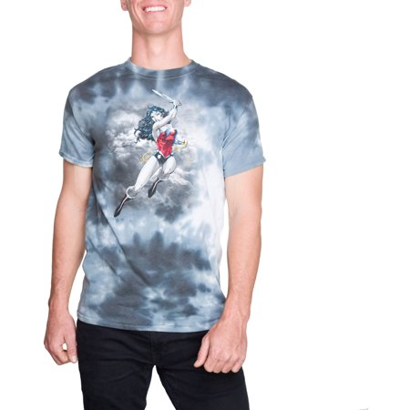 4977ab4f946d6 Super Heroes   Villains - DC Comics Men s Wonder Woman Tie Dye Short Sleeve  Graphic Tee - Walmart.com
