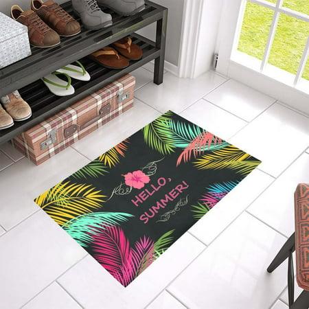 Summer Rub - MKHERT Hello Summer Doormat Rug Home Decor Floor Mat Bath Mat 23.6x15.7 inch