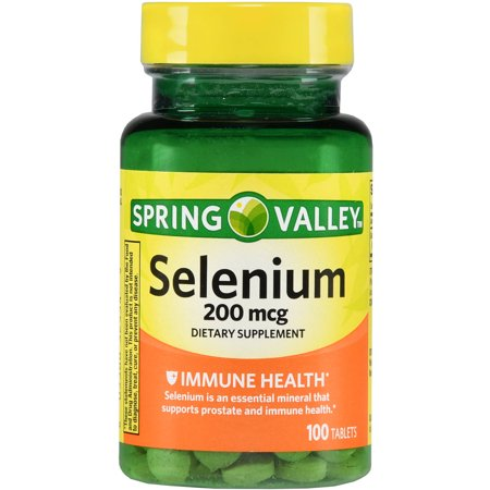 Spring Valley Selenium Dietary Supplement Tablets, 200mcg, 100 ct