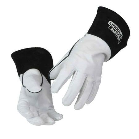 Goatskin Leather (Lincoln Electric K2981 Goatskin Leather TIG Welding Gloves, Medium)