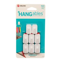 VELCRO Brand HANGables Removable Micro Hook Holds 1/2lb, White, 8 ct
