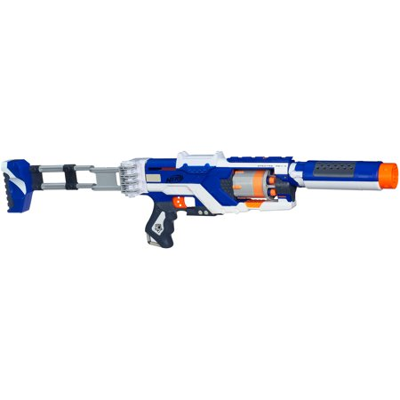 Damn thing is battery powered and full auto with a 25 dart drum mag! In my  defense my little cousin loves him some Nerf and I figured I'd get one so  we ...