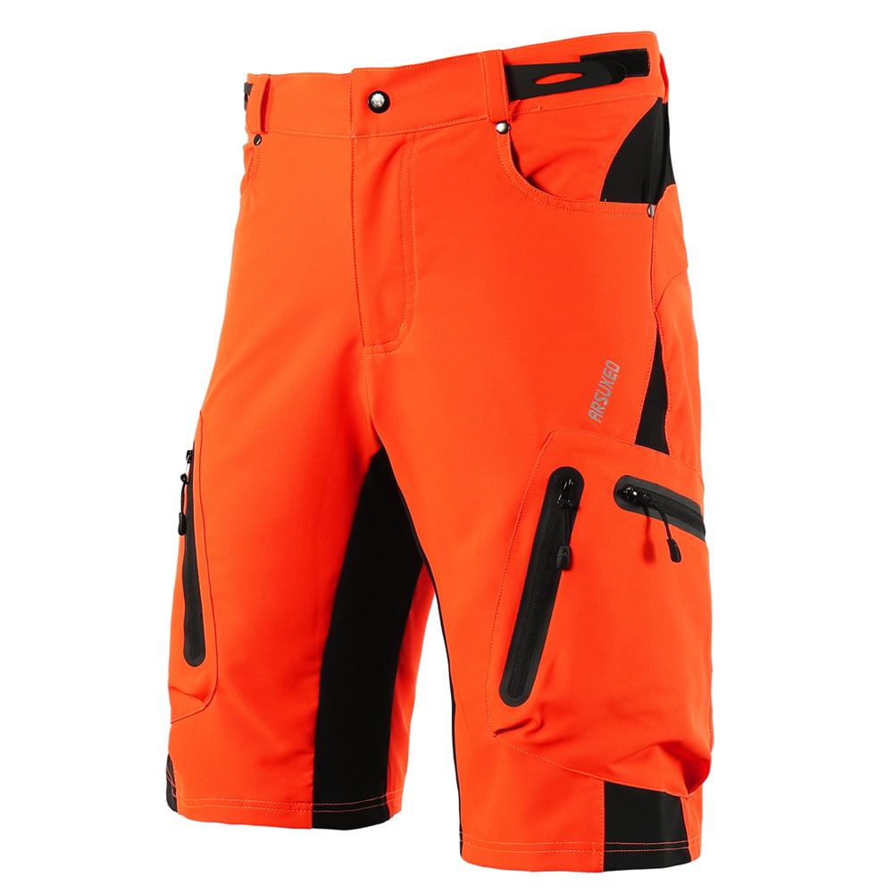 Mens Baggy Cycling Shorts Casual Bike Bicycle Loose Pants Zipper Pockets Belt