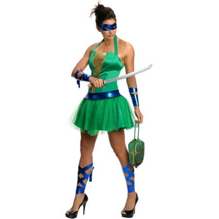 Womens Teenage Mutant Ninja Turtles Leonardo Dress Costume - Ninja Turtle Womens Costume