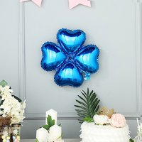 BalsaCircle 10 pcs 14.5-Inch wide Clover Mylar Foil Balloons - Wedding Event Birthday Reception Party Wholesale Decorations Supplies