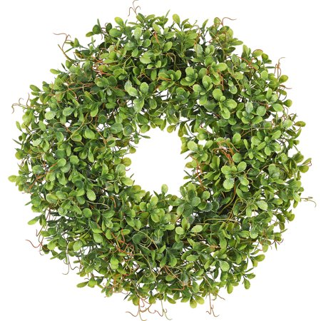 Coolmade Artificial Green Leaves Wreath - 17