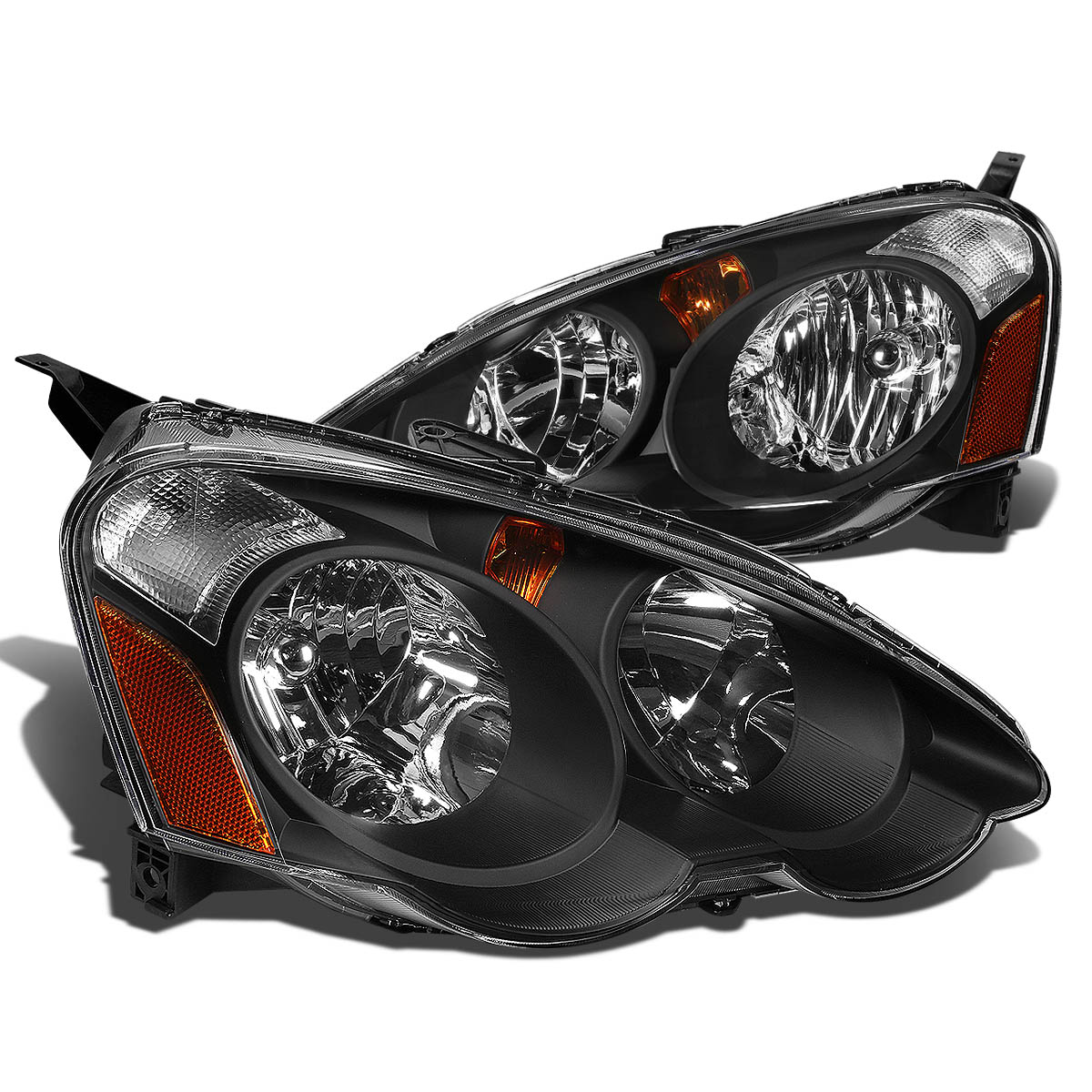 For 2002 To 2004 Acura RSX DC5 Pair Headlight Black