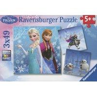 Ravensburger Disney Frozen: 3 Pack - 3 x 49 Pieces - Winter Adv Puzzles