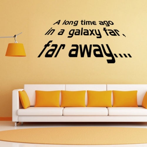 Star Wars A Long Time Ago Far Quote Vinyl Art Wall Sticker Decals Home Decor Letters Wall Paper Walmart Canada