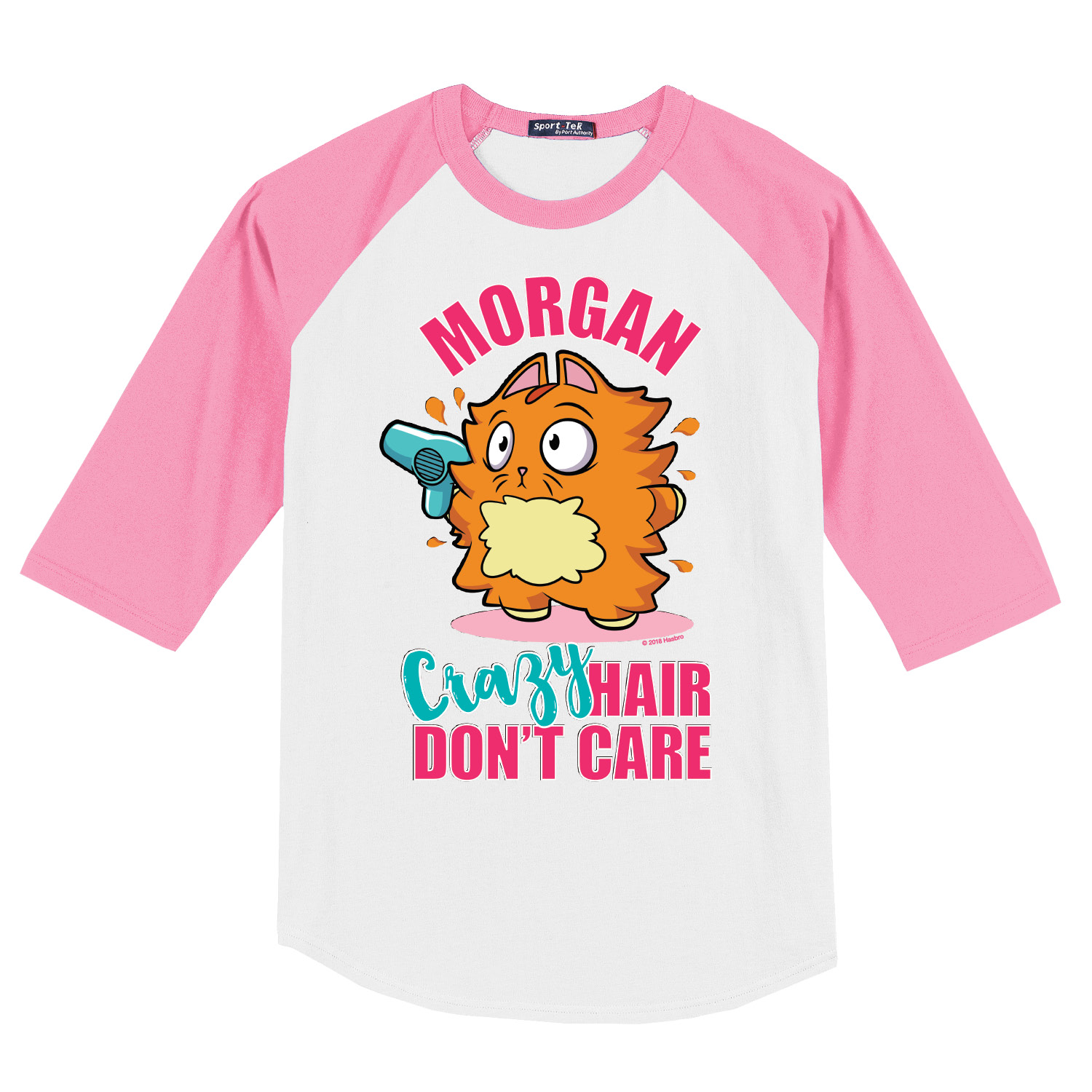 Crazy Hair Pink Youth Sports Jersey